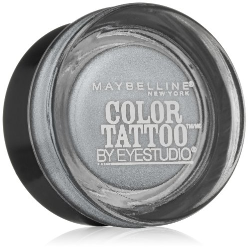 Maybelline New York Eye Studio Color Tattoo Metal 24 Hour Cream Gel Eyeshadow, Silver Strike, 0.14 (0.14 Ounce Shadow)