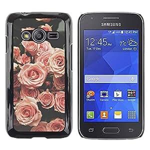 TopCaseStore / la caja del caucho duro de la cubierta de protección de la piel - Vignette Vintage Spring - Samsung Galaxy Ace 4 G313 SM-G313F