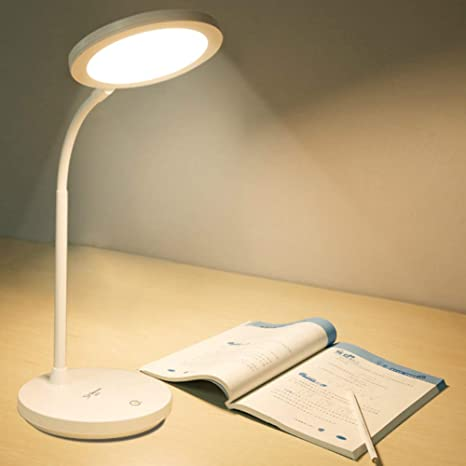LED Desk Table Reading Lamp Light Battery Rechargeable Touch Switch Room Light