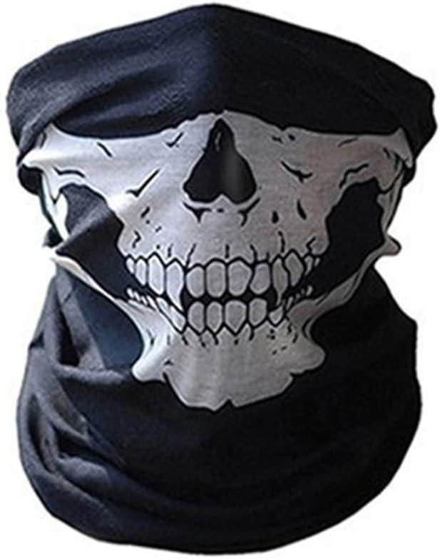 Qianliuk Halloween Moto máscara cráneo Cuello Caliente mascarilla ...