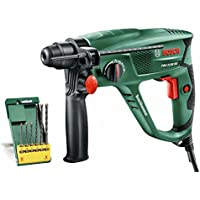 Bosch PBH 2100 RE Rotary Hammer Drill with 6-Piece SDS Drill Bit Set