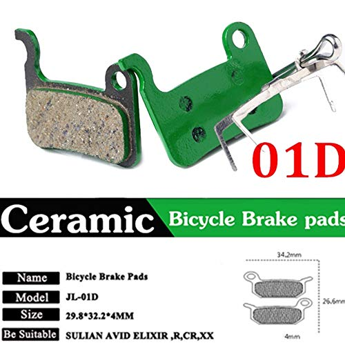 Auntwhale Bike Disc Brake Pads for MTB Hydraulic Disc Brake for Shimano XTR M975/M966/M965/Saint M800/Hone M601/Deore XT - 01D