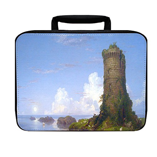 Italian Coast Scene Ruined Tower (T Cole) Insulated Lunch Box Bag (Ruined Tower)