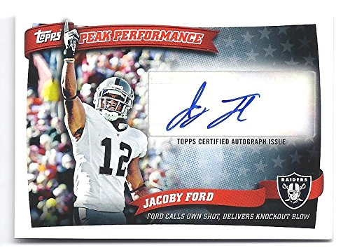 - JACOBY FORD 2010 Topps Peak Performance #PPAJAF AUTOGRAPH RC Rookie Card Oakland Raiders Football