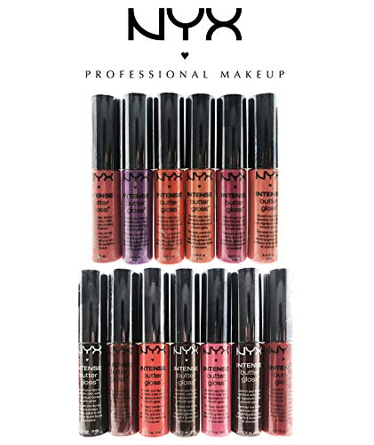 NYX Intense Butter Gloss 13-Color Assorted Set (Colors Listed) (Nyx Intense Butter Gloss)