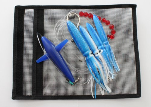 Bird Daisy Chain – Blue/White – 1pc – w/Single Lure Bag – Item # 219