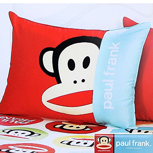 Paul Frank 100% Cotton Bedding Zippered Pillow Cover Case 24