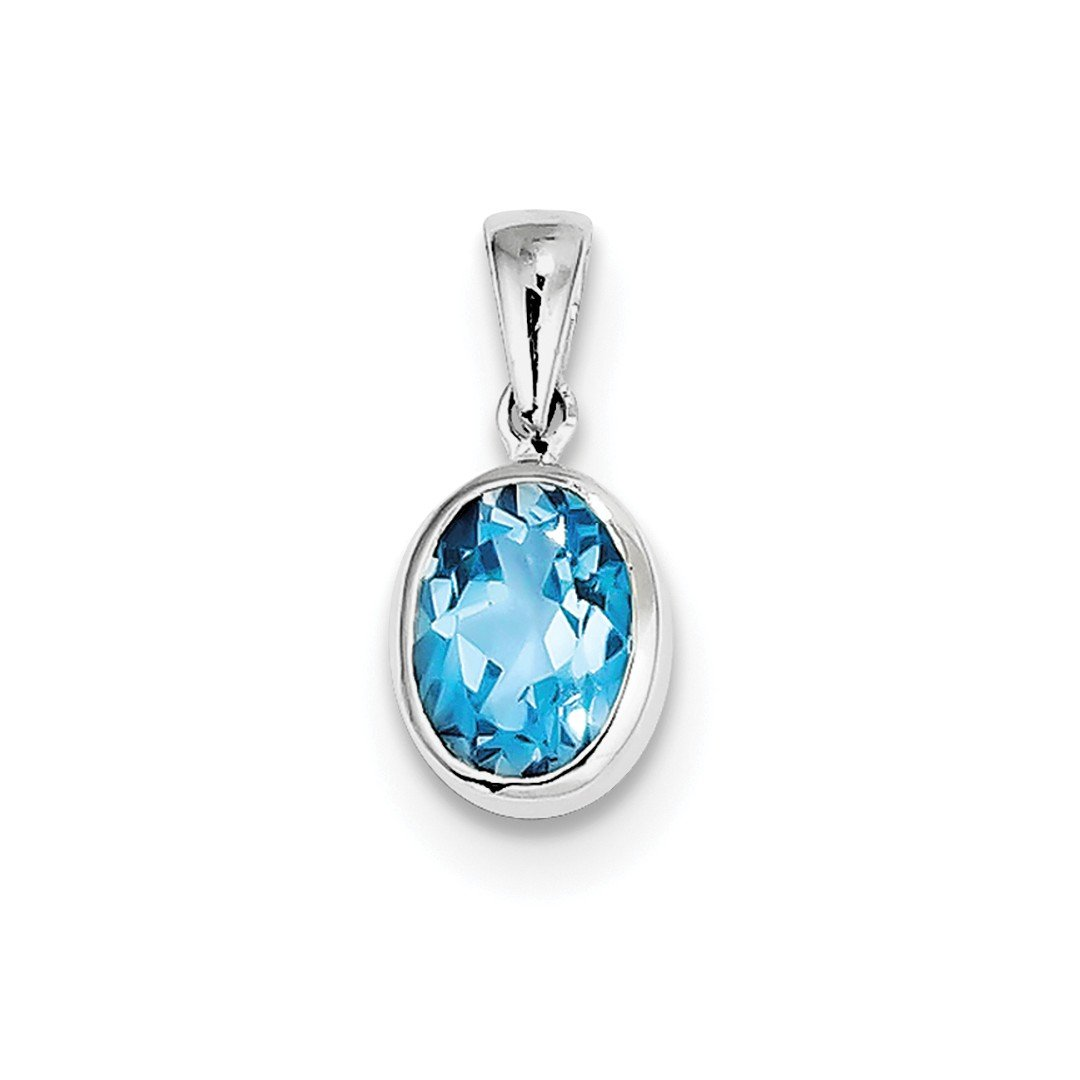 ICE CARATS 925 Sterling Silver Swiss Blue Topaz Pendant Charm Necklace Gemstone Fine Jewelry Ideal Gifts For Women Gift Set From Heart IceCarats 6069372002461864926