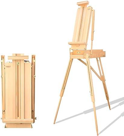 ZTMN Caballete, Caja de Pintura al óleo portátil, Madera de Haya para Soporte de exhibición de Pintura de Dibujo al Aire Libre (Color: ms): Amazon.es: Hogar