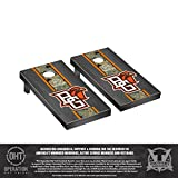 Victory Tailgate Operation Hat Trick Bowling Green State Falcons Regulation Cornhole Game Set Onyx Stained Stripe Version