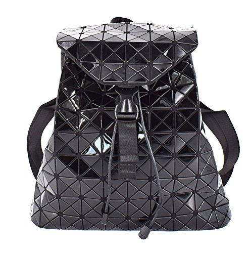 Price comparison product image HotOne Geometric Diamond Lingge Backpack For Women Fashion Womens Purse Backpack(Black)
