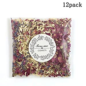 100% Natural Wedding Confetti-Biodegradable Dried Rose Flowers and Petals Confetti for Wedding and Party Decorations,10g/ct 1