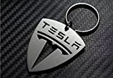 Tesla Premium Key Chain - Stainless Steel Cut Out