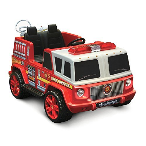 12V Ride-on Emergency Fire Engine by Kid Motorz -