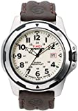Timex Men's T49261 Expedition Rugged Field Shock Analog Brown Leather Strap Watch, Watch Central