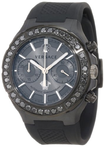 Versace Men's 26CCS76D455 S009 DV One Automatic Black Ceramic Chronograph Unisex Watch