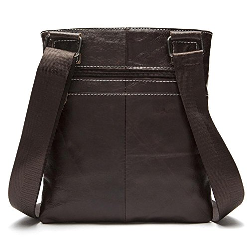 Male profundo Negro Café Bag Custom Package Leather Hombre Crossbody 703 Leisure Leisure Compartimiento Interior OS5qwgxf5R