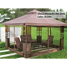 Universal 10' x 12' Mosquito Netting for Gazebo Canopy- Brown