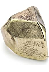 Low Luv by Erin Wasson Gold-Plated Faceted Boulder Ring