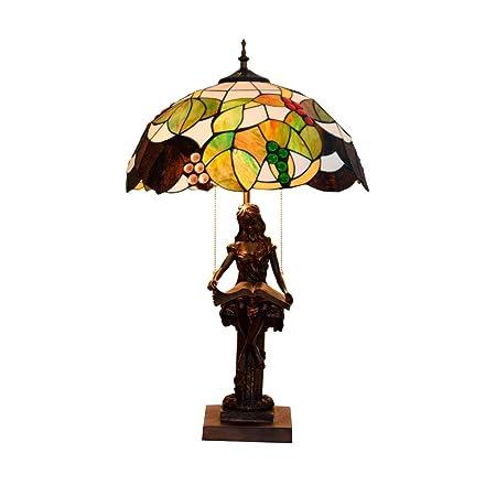 QCKDQ 40 Cm lámpara de Mesa, lámpara de Mesa Estilo Tiffany con el ...