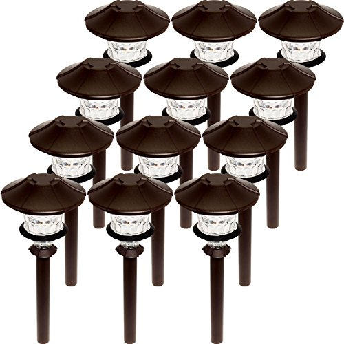 (Paradise 12 Pack Low Voltage LED 0.75W Aluminum Path Light (Oil Rubbed Bronze))