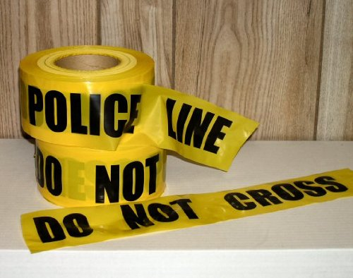 Storm Stripes Barricade Tapes, POLICE LINE DO NOT CROSS - In