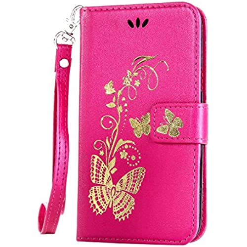 For S7 Case,S7 Leather Case,Samsung S7 Cases wallet,Nacycase flip case with card pockets cover for Samsung Galaxy S7 (hot pink) Sales