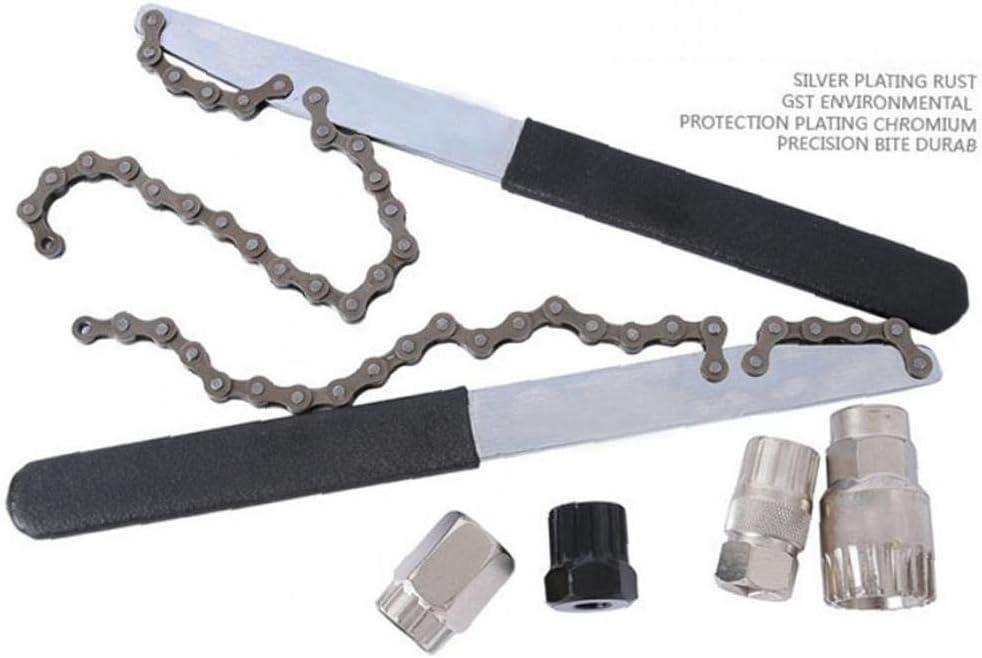 Fahrrad Cassette Schwungrad Freilauf Locking-Remover-abbau-Reparatur-Werkzeug Passend Cassette Schwungrad Typ Silber 1pc