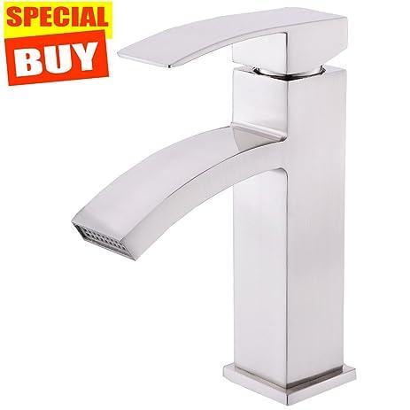 Friho Stainless Steel Single Handle Centerset Bathroom Sink Vessel ...