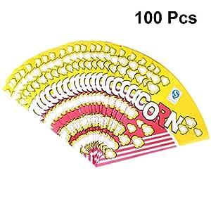 HEALLILY bolsas de palomitas de maíz de papel 100 piezas de ...