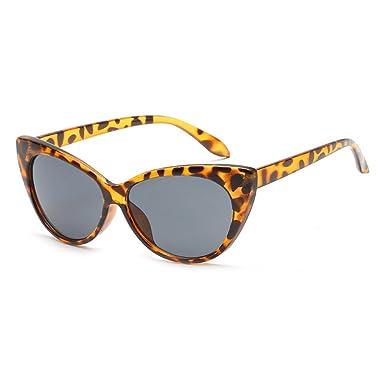 Femmes Vintage Color Mirror lunettes de soleil hibote Sexy Triangle Cat Eye lunettes de soleil C3 JIdcZ4