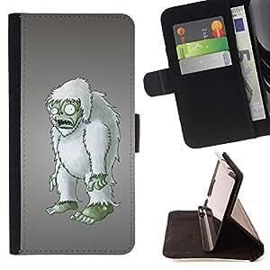 Momo Phone Case / Flip Funda de Cuero Case Cover - Zombie embargo Arte del mu?eco peludo Figurita 3D - Samsung Galaxy Note 5 5th N9200