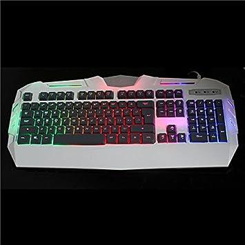 Rosa Lagarto Glare x-s550 104 teclas con cable LED retroiluminada Teclado Gaming Mecánica Handfeel 19 teclas no Rollover: Amazon.es: Informática