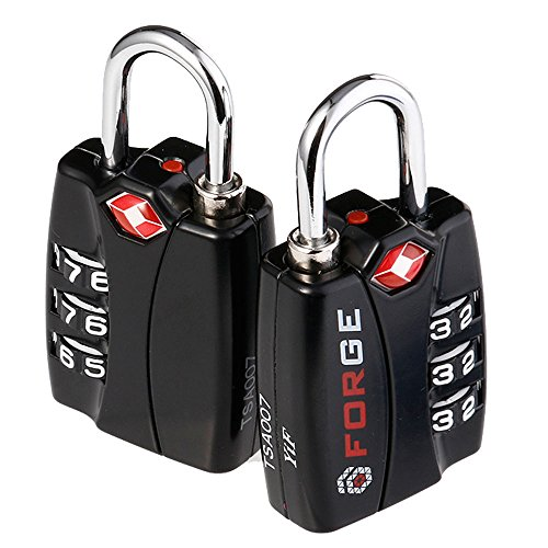 Forge TSA Locks 2 Pack - Open Alert Indicator, Alloy Body with...