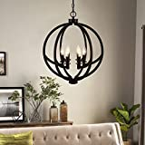Cerdeco 6-Lights Chandelier Painted Black Modern Pendant Light [UL Listed] Review