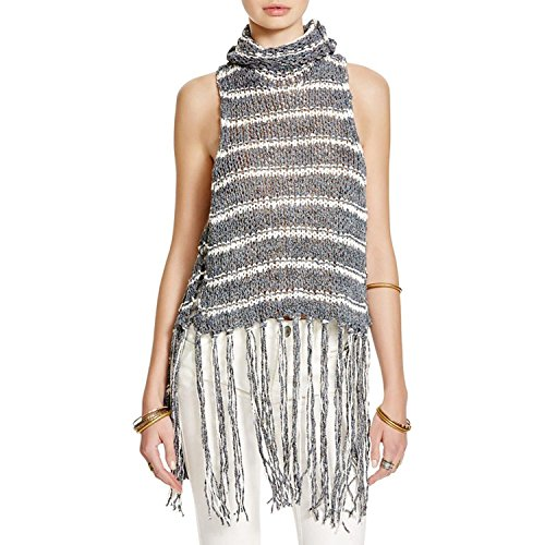 Free People Women's Folksong Frindge Vest Midnight Combo SM (Women's 4-6) by Free People