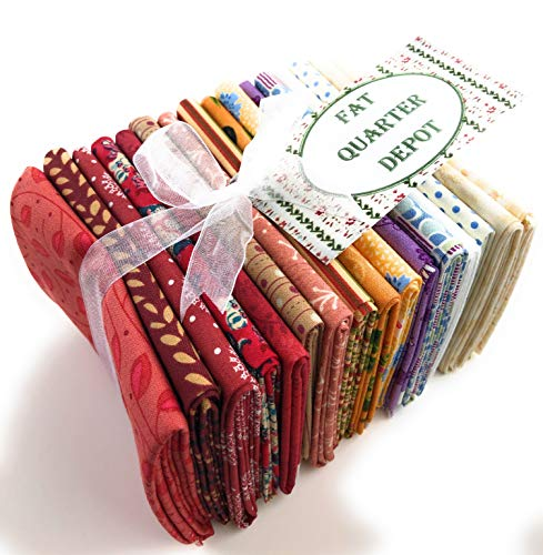 Charm Bundle 16 Assorted Fat Quarter Quilter's Cotton Fabric