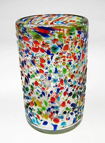 Mexican Glasses Pebble Confetti Tumblers, 16 oz, (4)