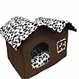 Hollway Union Pet Supplies Home Sweet Home for Pet, House/black Dog Room Cat Bed 55 X 40 X 42 Cm For Sale