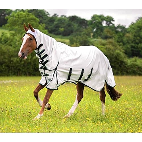 Shires Sweet-Itch Combo Fly Sheet - White - Size 78