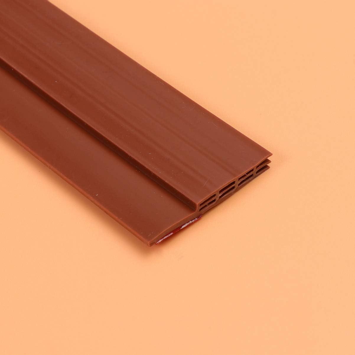 BESPORTBLE Holzt/ürschlitz-Dichtleiste T/ürboden-Dichtleiste Schallschutzleiste Braun