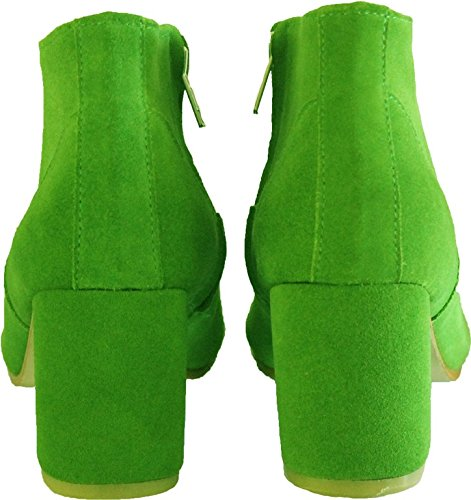 Suede Leather to Model 44 HGilliane Ankle Boots 33 Green 11sunshop and EU Design Killiam AwdZFqq