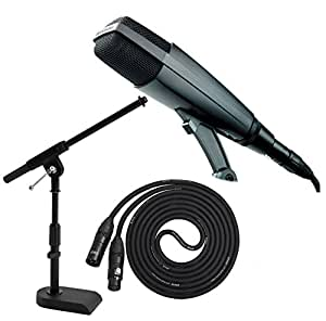 sennheiser md421 ii large diaphragm dynamic microphone with a kick drum mic stand. Black Bedroom Furniture Sets. Home Design Ideas