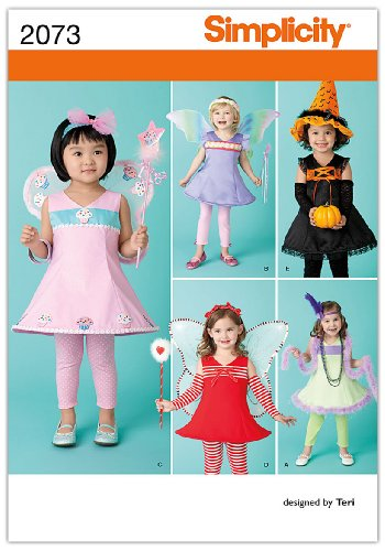 Simplicity Sewing Pattern 2073: Toddler's Costumes, A (1/2-1-2-3-4) (Cupcake Costume Pattern)