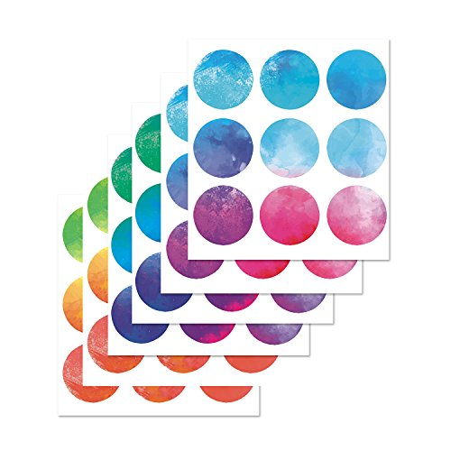 Wall Decals Circles - PARLAIM Vinyl Multi Color Wall Decor Stickers Circles, Removable Polka Dots Wall Decal with Gift Packaging for Kids Room,Living Room,Bedroom (Multicolor,3 inch x 54 Circles)