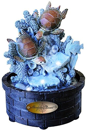 Diving Turtle LED Tabletop Water Fountain with Adapter (Included)