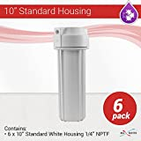 6 x 10'' Revese Osmosis water filter White housing 1/4'' NPT with double O ring