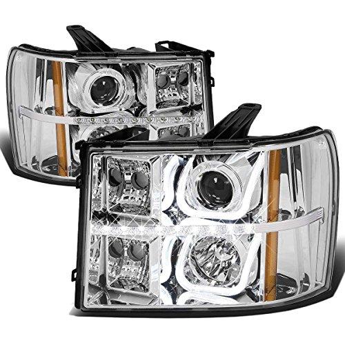 gmc-sierra-gmt-900-u-bar-halo-projector-headlight-w-led-running-light-assembly-chrome-housing-amber-