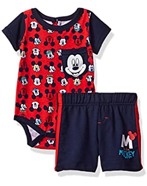 Baby Boys' 2 Piece Mickey Mouse French Terry Short Set!