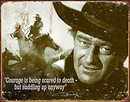 (Desperate Enterprises John Wayne - Courage Tin Sign, 16